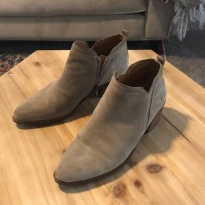 Suède ankle Booties Size 7